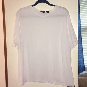 White ribbed T shirt